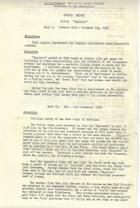 Cruise Report November '68