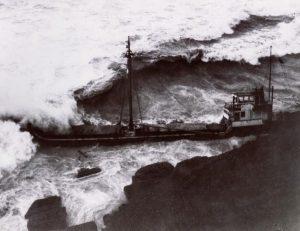 MV Servus aground in the Storm