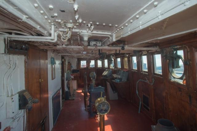 SS Explorer wheelhouse looking to port