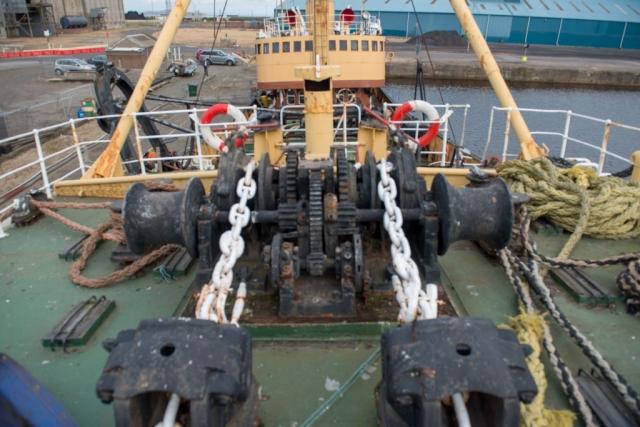 SS Explorer anchor windlass and guillotines