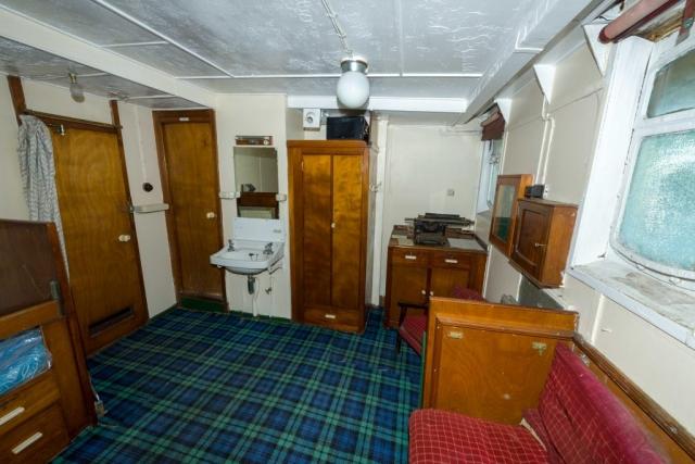 SS Explorer captain's cabin looking forward
