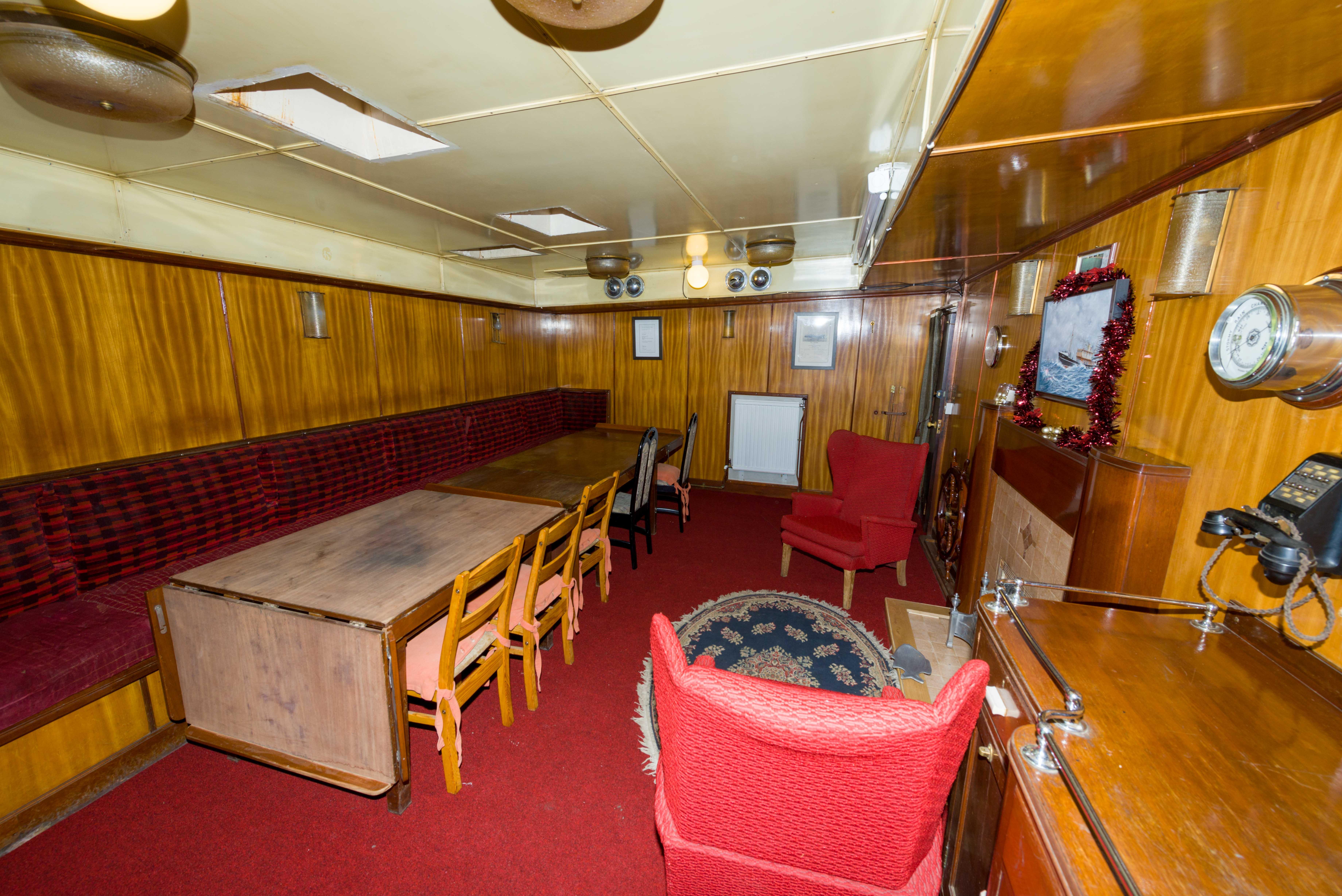 SS Explorer saloon looking forward