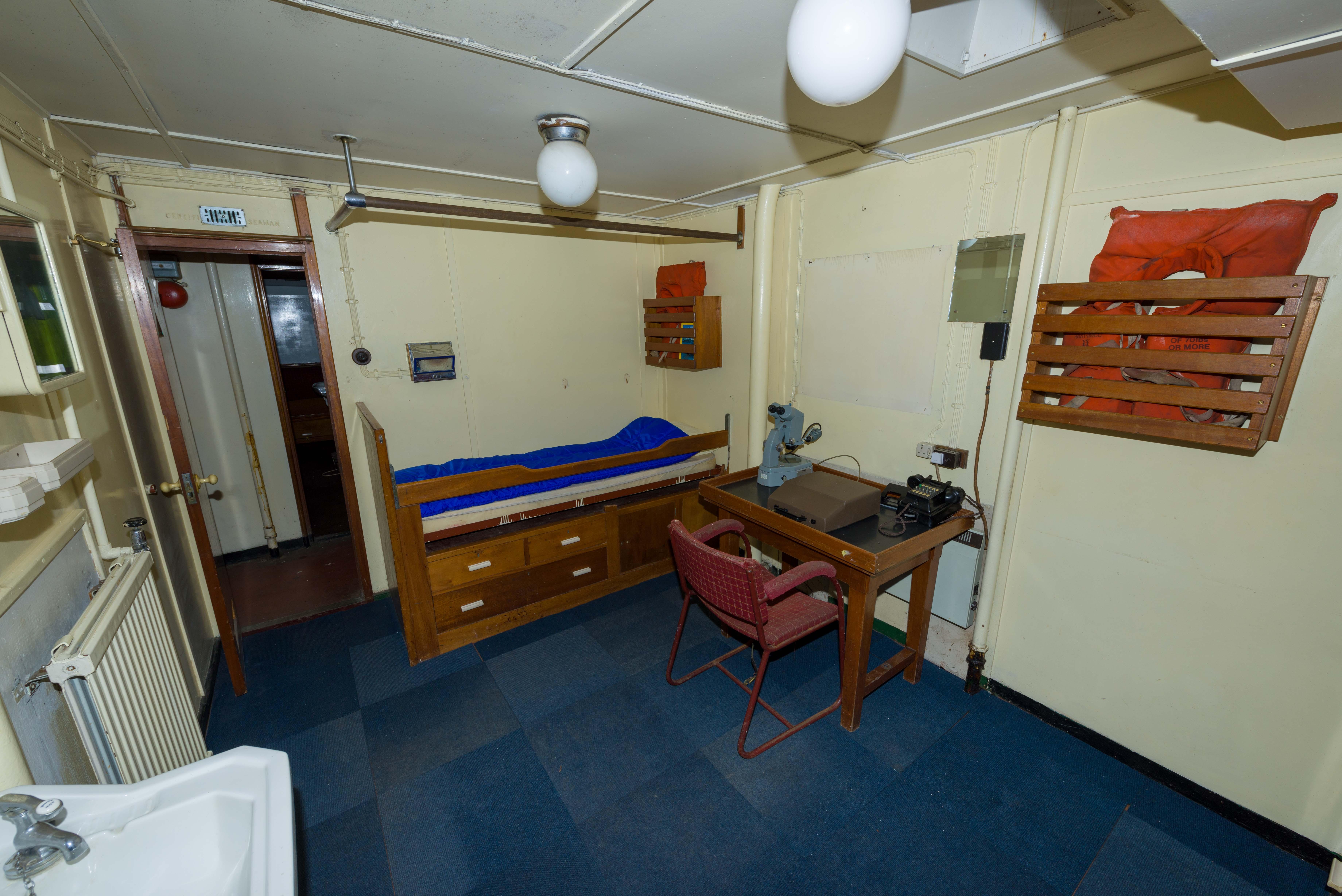 SS Explorer chief engineer's cabin