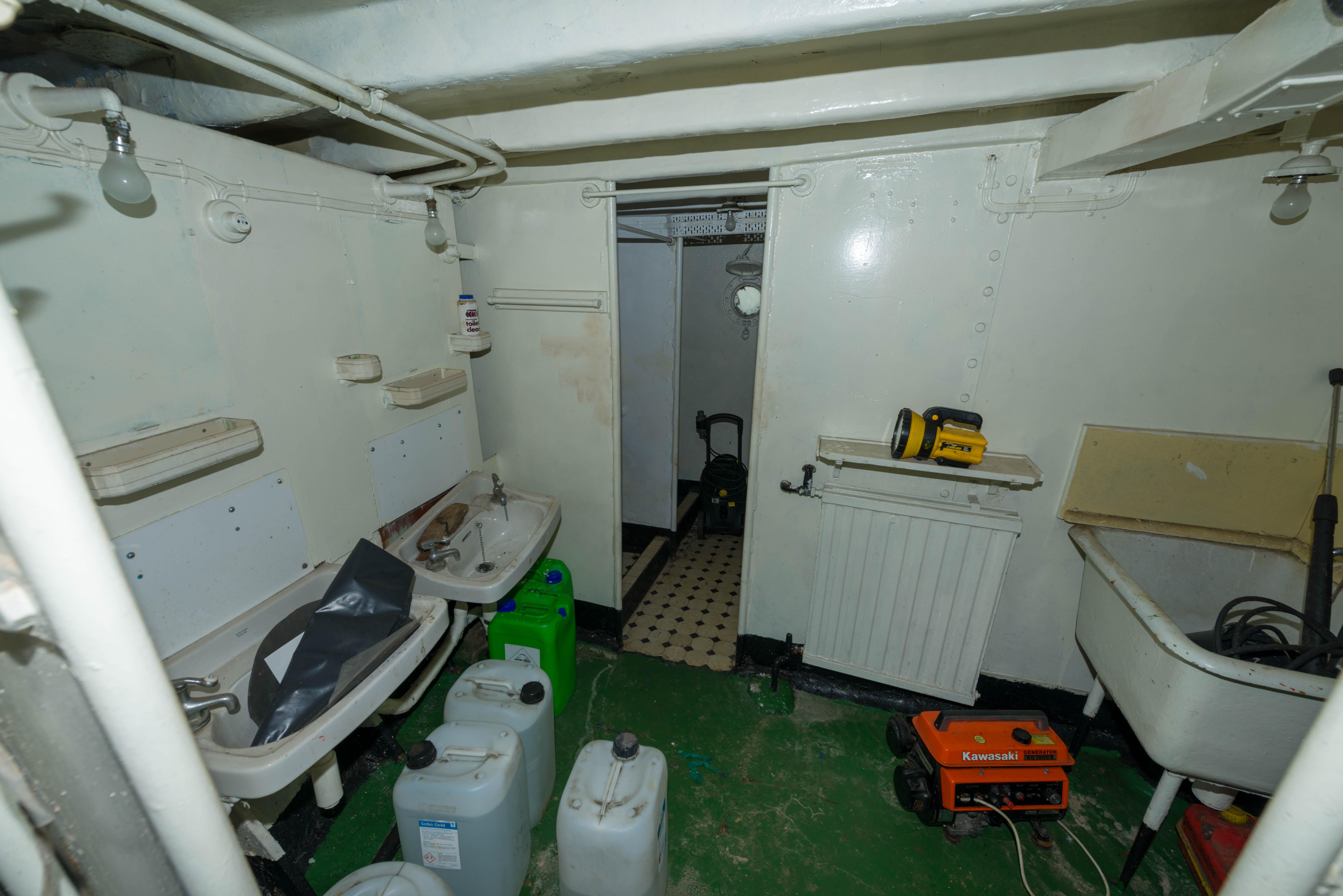 SS Explorer crew shower room