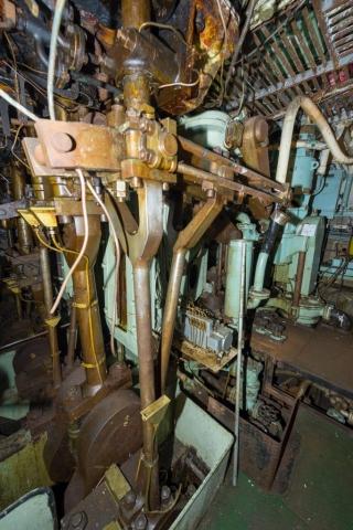 SS Explorer Stephenson Link Motion Reversing Gear