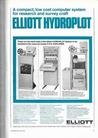 Elliot Hydroplot computer advert  ©John Dunn