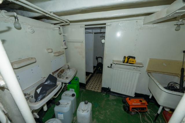 Crew Shower Room.